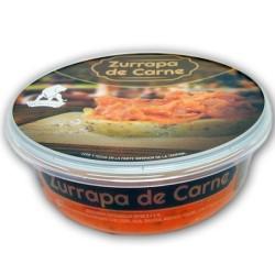 zurrapa de carne ibérica bañada en manteca colorada, comprar embutidos artesanos de la serrania de ronda en benaojan