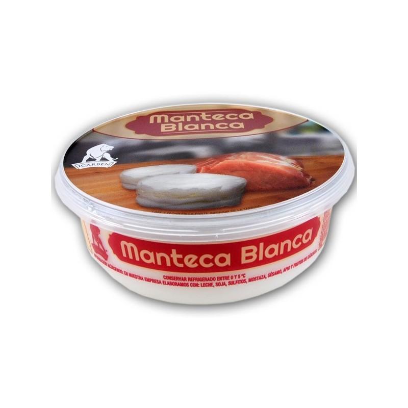 Manteca blanca de cerdo iberico. comprar manteca de cerdo ibérica, embutidos online manteca para freir
