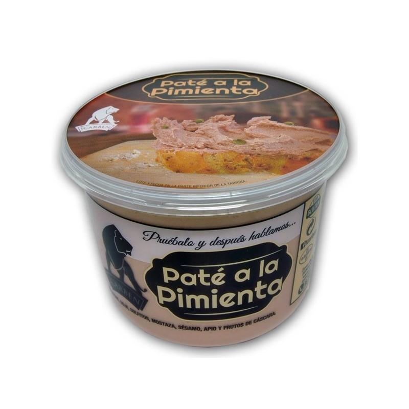 Paté ala pimienta artesano icarben, comprar paté a la pimienta artesano de la serrania de ronda en benaojan, sabor a malaga